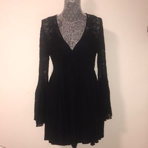 Free people medium black dress brand new